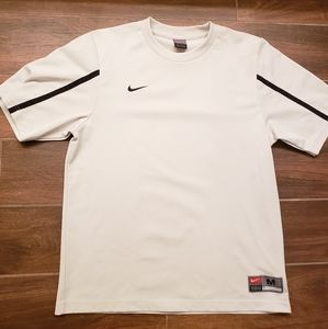 VINTAGE NIKE TEAM SPORTS WARMUP SHIRT WHITE